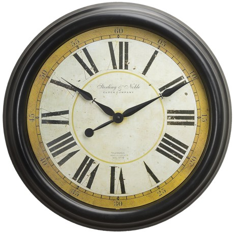"""Sterling & Noble 24"""" Old World Wall Clock"""