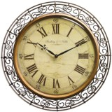 "Sterling & Noble 20"" Wrought Iron Wall Clock"