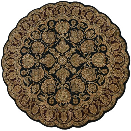 Kaleen Hand-Knotted Wool Area Rug - 8' Round