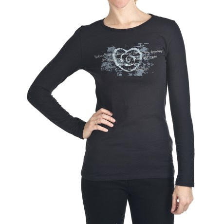 Trust Your Journey Journey is Where T-Shirt - Organic Cotton, Long Sleeve (For Women)