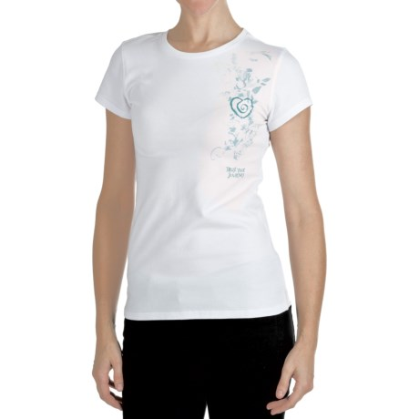 Trust Your Journey Flowing Heart T-Shirt - Organic Cotton, Short Sleeve (For Women)