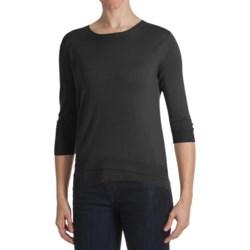 Kinross Lightweight Luxe Shirt - Double Hem, 3/4 Sleeve (For Women)
