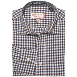 Mason's Mason's Cotton Multi-Check Shirt - Long Sleeve (For Men)
