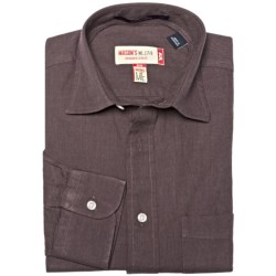 Mason's Brushed Cotton Twill Shirt - Long Sleeve (For Men)