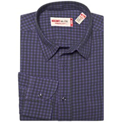 Mason's Brushed Cotton Mini-Check Shirt - Long Sleeve (For Men)