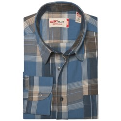 Mason's Crinkle Cotton Plaid Shirt - Long Sleeve (For Men)