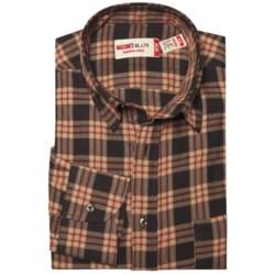 Mason's Crinkle Cotton Plaid Shirt - Long Sleeve (For Men)