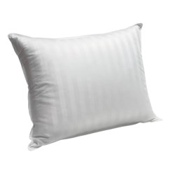 Blue Ridge Home Supreme White Down Pillow - Jumbo, 350 TC Damask Stripe