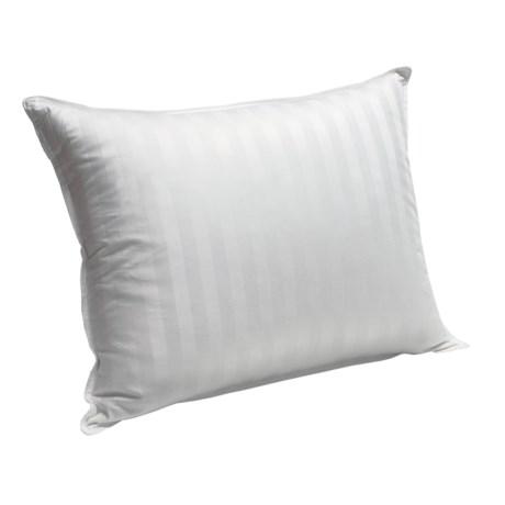 Blue Ridge Home Supreme White Down Pillow - Jumbo, 350 TC Damask Stripe
