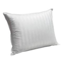 Blue Ridge Home Siberian White Down Pillow - Jumbo, 500 TC Damask Stripe