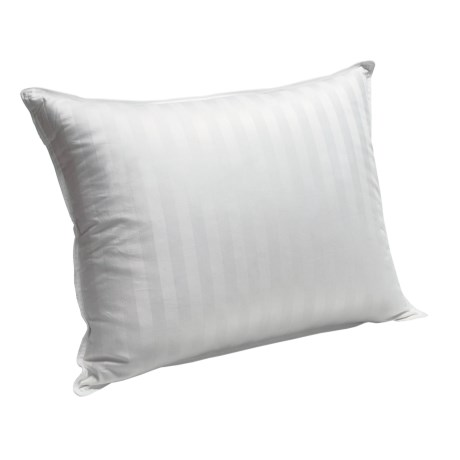 Blue Ridge Home Siberian White Down Pillow - Jumbo, 500 TC Damask Stripe