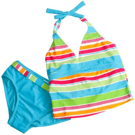 Beach Native Bikini Swimsuit - 2-Piece, Spaghetti Straps (For Girls)