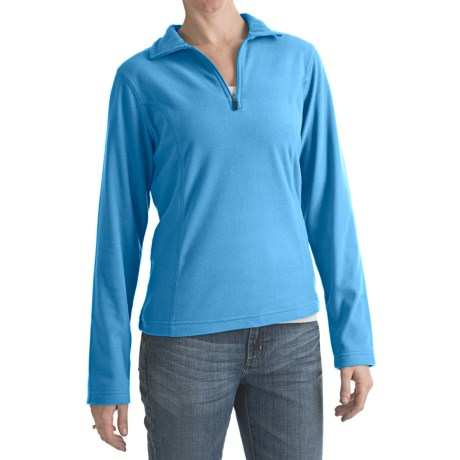 Zip Neck Polar Fleece Pullover (For Women)