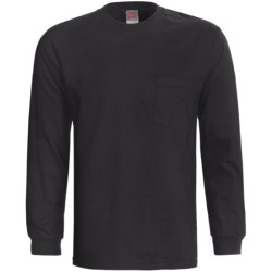 Hanes Beefy-T Pocket T-Shirt - Ring-Spun Cotton, Long Sleeve (For Men and Women)