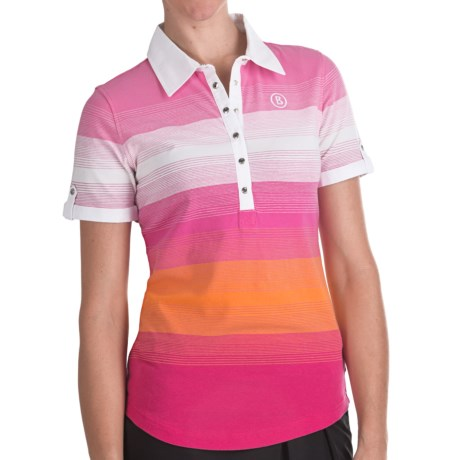 Bogner Patty Striped Golf Polo Shirt - Short Sleeve (For Women)