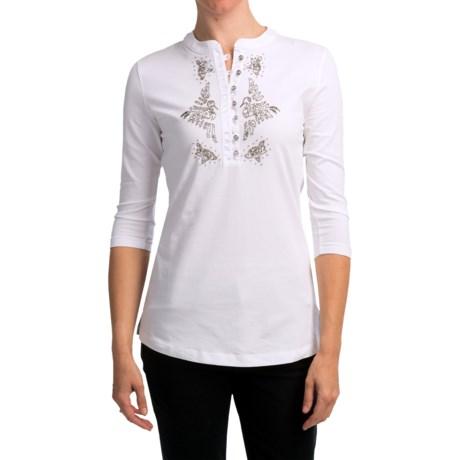 Bogner Bella Golf Shirt - 3/4 Sleeve (For Women)