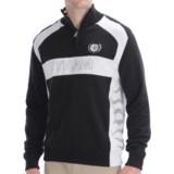 Bogner Vincenzo Combed Cotton Golf Sweater - Zip Neck (For Men)