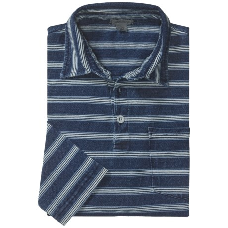 Martin Gordon Horizontal Stripe Polo Shirt - Long Sleeve (For Men)