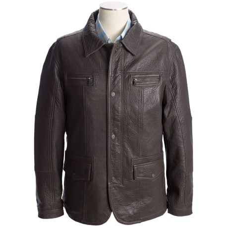 Martin Gordon Leather Jacket - Zip Front (For Men)