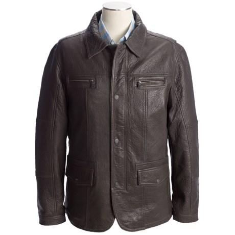 Martin Gordon Leather Jacket - Zip Front (For Men)