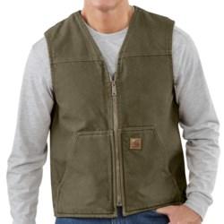 Carhartt Sandstone Vest - Sherpa Lining, Factory Seconds (For Tall Men)