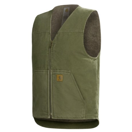Carhartt Sandstone Vest - Sherpa Lining, Factory Seconds (For Tall Men)