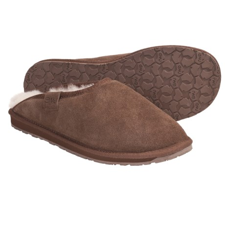 Emu Buckingham Slippers - Sheepskin, Suede (For Men)