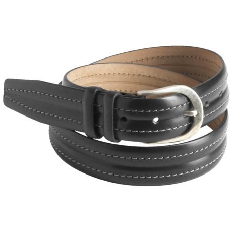 Mezlan Top-Stitched Leather Belt (For Men)
