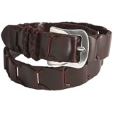 Mezlan Leather Link Belt (For Men)