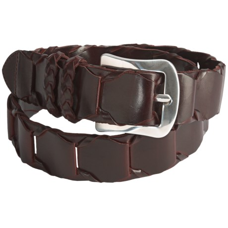 Mezlan Leather Link Belt (For Men)