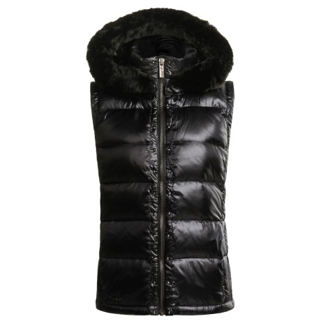 Spyder Charm Down Vest with Faux Fur Hood (For Women)