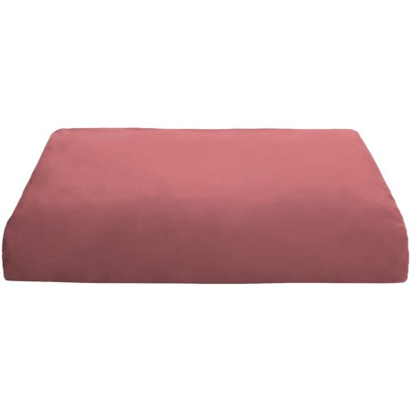 Coyuchi Percale Fitted Sheet - Queen, 220 TC Organic Cotton