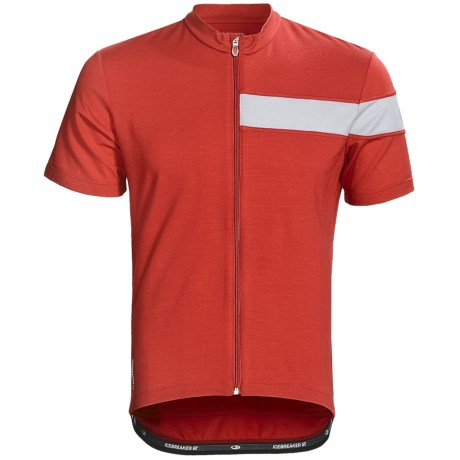 Icebreaker Circuit Cycling Jersey - Merino Wool, Full Zip, Short Sleeve (For Men)