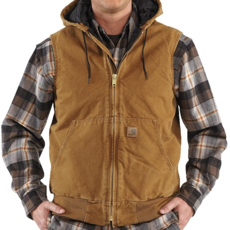 Carhartt Sandstone Hooded Active Vest - Insulated (For Men)