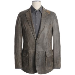 Kroon Garment-Washed Leather Sport Coat (For Men)