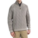 Viyella Cotton Pullover Sweater - Zip Neck, Long Sleeve (For Men)