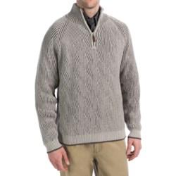 Viyella Cotton Pullover Sweater - Zip Neck, Long Sleeve (For Men)