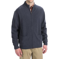 Viyella Lambswool Sweater - Full Zip, Long Sleeve (For Men)