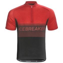 Icebreaker GT Bike Team Cycling Jersey - Merino Wool, Zip Neck, Short Sleeve (For Men)