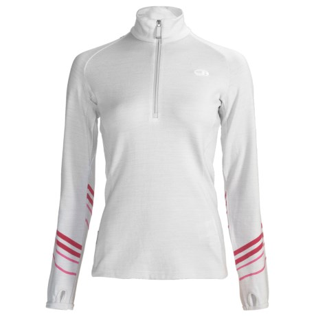 Icebreaker Piste Merino Wool Pullover - Zip Neck, Long Sleeve (For Women)