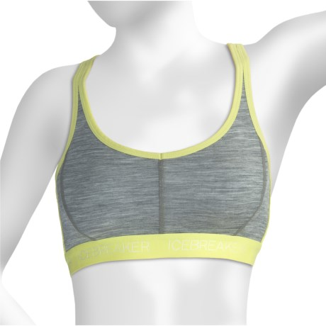 Icebreaker Nature 150 Sprite Sports Bra - Merino Wool, Racerback (For Women)
