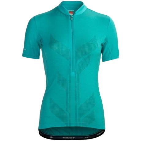 Icebreaker Bike Viva Cycling Jersey - Merino Wool, Zip Neck, Short Sleeve (For Women)