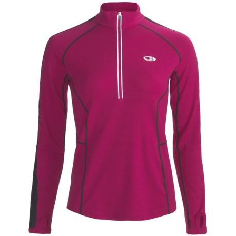Icebreaker GT Run Quest Pullover Shirt - Merino Wool, Zip Neck, Long Sleeve (For Women)