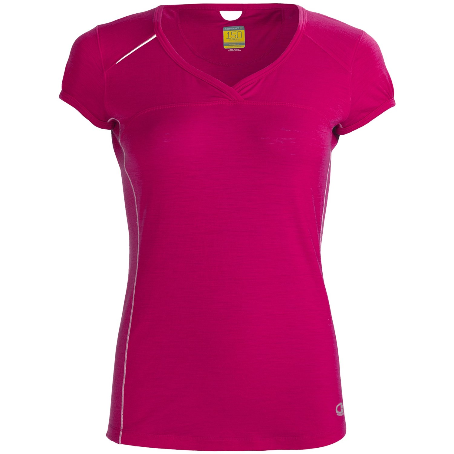 Icebreaker gt run rush t shirt for women 5485c save 31 for Merino wool shirt womens