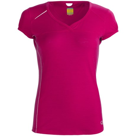 Icebreaker GT Run Rush T-Shirt - Merino Wool, V-Neck, Short Sleeve (For Women)