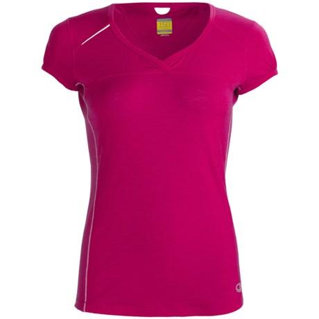 Icebreaker GT Run Rush T-Shirt - Merino Wool, V-Neck, Short Sleeve (For Women)