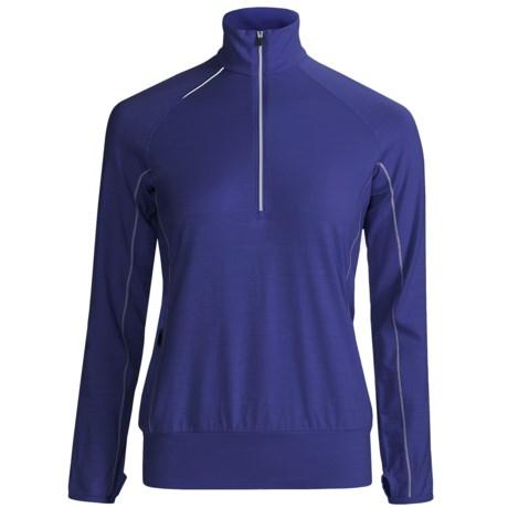 Icebreaker GT Run Rush Pullover Shirt - Merino Wool, Zip Neck, Long Sleeve (For Women)
