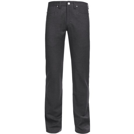 Ivory Wool Heather 5-Pocket Pants (For Men)