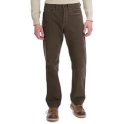 Ivory Cotton Moleskin Pants - 5-Pocket (For Men)