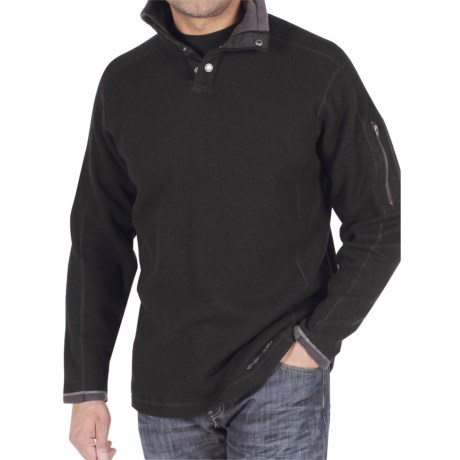 ExOfficio Roughian Sweater - Snap Front, Long Sleeve (For Men)